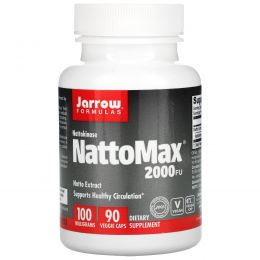 Jarrow Formulas, NattoMax 2000 FU, 100 mg, 90 овощных капсул