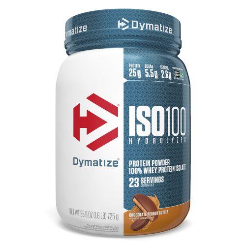 Dymatize Nutrition, ISO 100 Hydrolyzed, 100% изолят сывороточного протеина, шоколадное арахисовое масло, 25,6 унций (725 г)