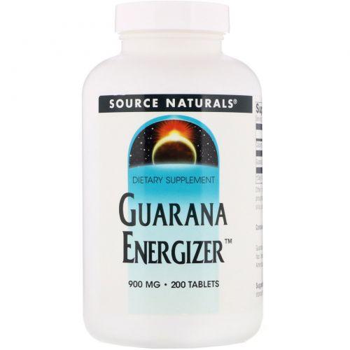 Source Naturals, Энергетическое средство гуарана, 900 мг, 200 таблеток