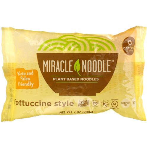Miracle Noodle, Лапша Ширатаки, Феттучини, 7 унций (198 г)