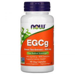 Now Foods, EGCg, экстракт зеленого чая, 400 мг, 90 вегетарианских капсул