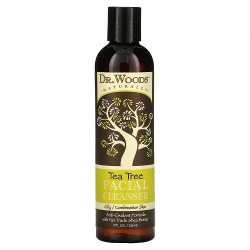 Dr. Woods, Средство для умывания с маслом чайного дерева, 8 жидких унций (236 мл)