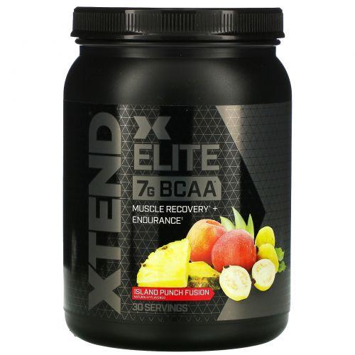 Scivation, Xtend Elite, 7г аминокислот с разветвленной цепью (BCAA), вкус Island Punch Fusion, 540г (1,19фунта)
