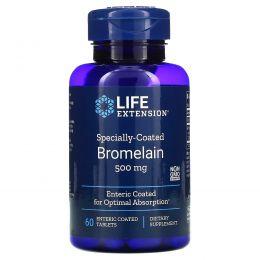 Life Extension, Бромелаин в специальной оболочке, 500 мг, 60 таблеток с энтеросолюбильным покрытием
