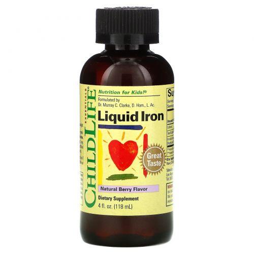 ChildLife, Liquid Iron, с натуральным ягодным вкусом, 118мл (4жидк. унции)