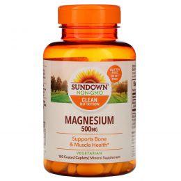 Sundown Naturals, Магний, 500 мг, 180 капсуловидных таблеток