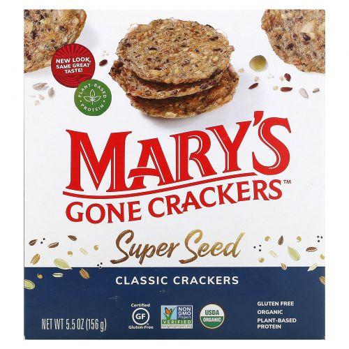 Mary's Gone Crackers, Organic, крекеры из супер-зерна, 5,5 унции (155 г)