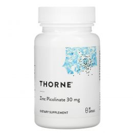 Thorne Research, пиколинат цинка, 30мг, 60капсул