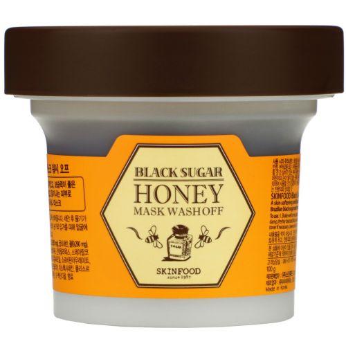 Skin Food, Смываемая маска с черным сахаром и медом, 3.5 унции (100 г)