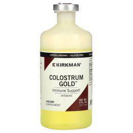 Kirkman Labs, Колострум — натуральное жидкое молозиво без вкусовых добавок и ароматизаторов, 8 жидких унций (237 мл)