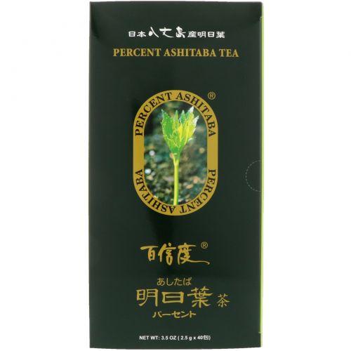 Percent Ashitaba, Чай, 40 чайных пакетиков, 3,5 унц.