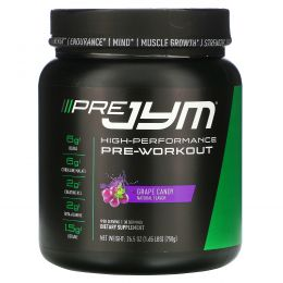 JYM Supplement Science, High-Performance Pre-Workout, Grape Candy, 26.5 oz (750 g)