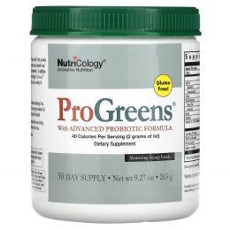 Nutricology, ProGreens с улучшенной пробиотической формулой, 9,27 унций (265 г)