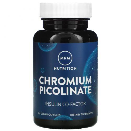 MRM, Пиколинат хрома 200, высокая эффективность, 100 капсул