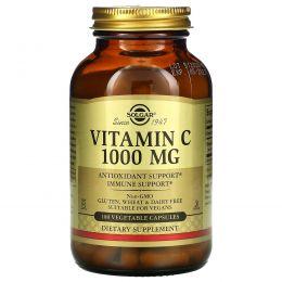 Solgar, Витамин C, 1000 мг , 100 вегетарианских капсул