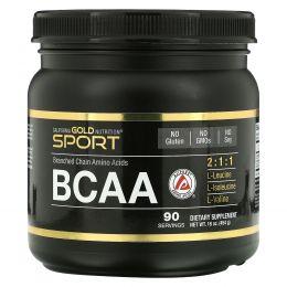 California Gold Nutrition, BCAA, AjiPure, аминоксилоты с разветвленной цепью, без глютена, 16 унций (454 г)
