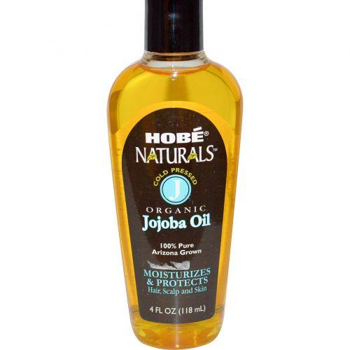 Hobe Labs, Натуральное масло жожобы, 4 жидких унции (118 мл)