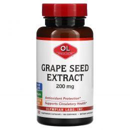 Olympian Labs Inc., Экстракт виноградных косточек, 200 мг, 100 вегетарианских капсул