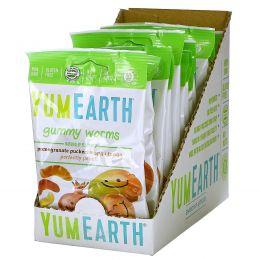 YumEarth, Органический жевательный мармелад в форме червячков, 12 пачек, 2.5 унций (71 г) каждая