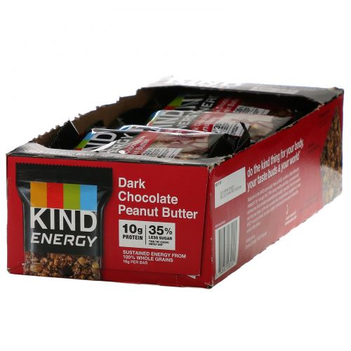 KIND Bars, Energy,  Dark Chocolate Peanut Butter , 12 Bars, 2.1 oz (60 g) Each