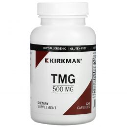 Kirkman Labs, Триметилглицин (TMG), 500 мг, 120 капсул