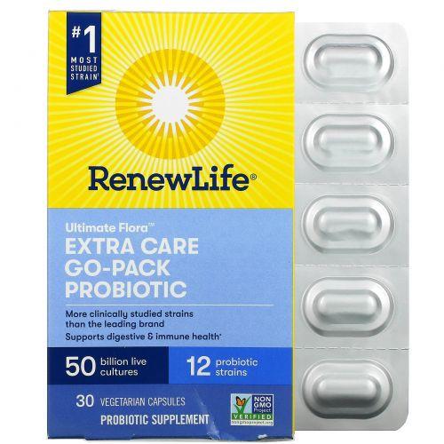 Renew Life, Сверхзабота Полноценная флора Пробиотик, 50 миллиардов, 30 вегетарианских капсул