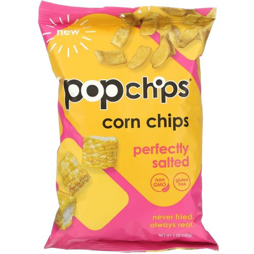 Popchips, Corn Chips, Perfectly Salted, 5 oz (142 g)