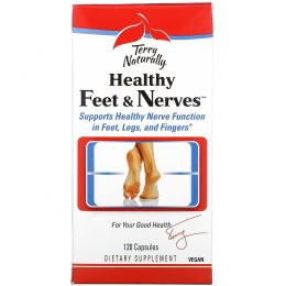 EuroPharma, Terry Naturally, Terry Naturally, Healthy Feet & Nerves, здоровые ноги и нервы, 120 капсул