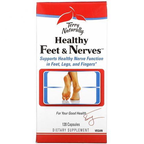 EuroPharma, Terry Naturally, Terry Naturally, Healthy Feet & Nerves, здоровые ноги и нервы, 120 капсул