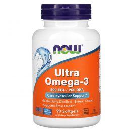 Now Foods, Ultra Omega-3, 500 EPA/250 DHA, 90 Softgels