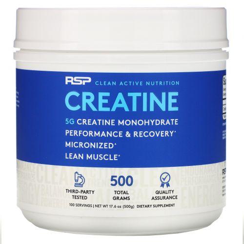 RSP Nutrition, Creatine Monohydrate, Micronized Creatine Powder, 17.6 oz (500 g)
