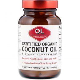 Olympian Labs Inc., Certified Organic Coconut Oil, Organic, 60 Softgels