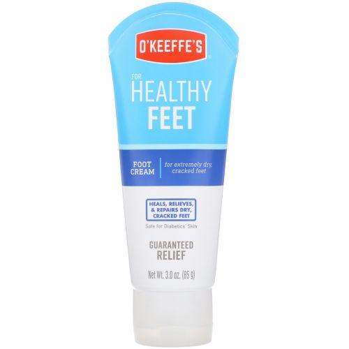 O'Keeffe's, Healthy Feet, крем для ног, без запаха, 3 унц. (85 г)