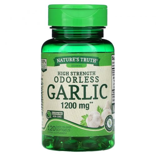 Nature's Truth, Odorless Garlic, High Strength , 1,200 mg, 120 Quick Release Softgels