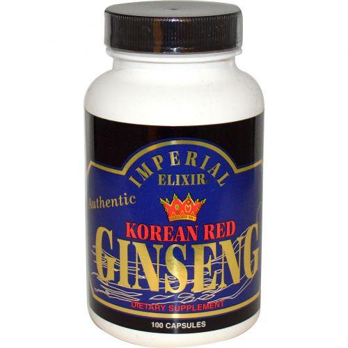 Imperial Elixir, Корейский красный женьшень, 100 капсул