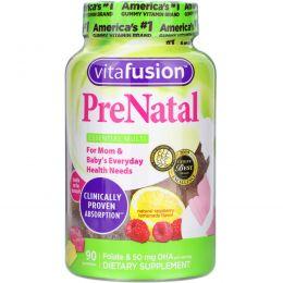 VitaFusion, PreNatal, ДГК, фолиевая кислота и мультивитамины, 90 жевательных таблеток