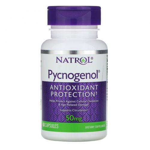 Natrol, Pycnogenol, 50мг, 60капсул