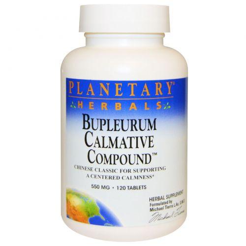 Planetary Herbals, Bupleurum Calmative Compound (успокаивающий состав с володушкой), 550 мг, 120 таблеток