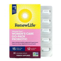 Renew Life, Идеальная флора, женский пробиотик RTS, 15 млрд, 30 вегетарианских капсул