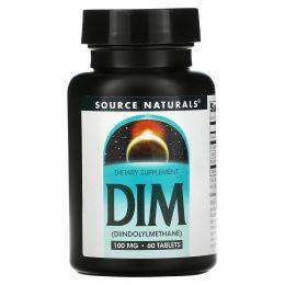 Source Naturals, ДИМ, (Дииндолилметан), 100 мг, 60 таблеток
