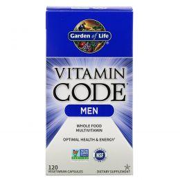 Garden of Life, Vitamin Code, Men, 120 вегетарианских таблеток