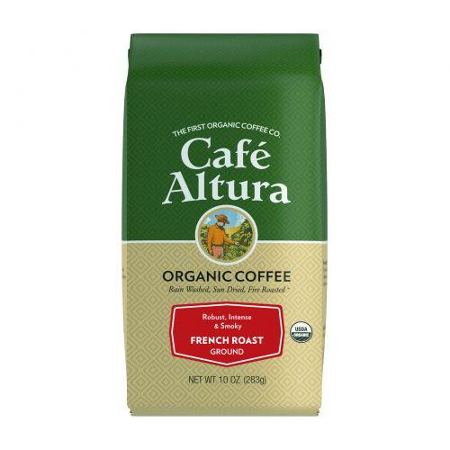 Cafe Altura, Organic Coffee, French Roast, Ground, 10 oz (283 g)