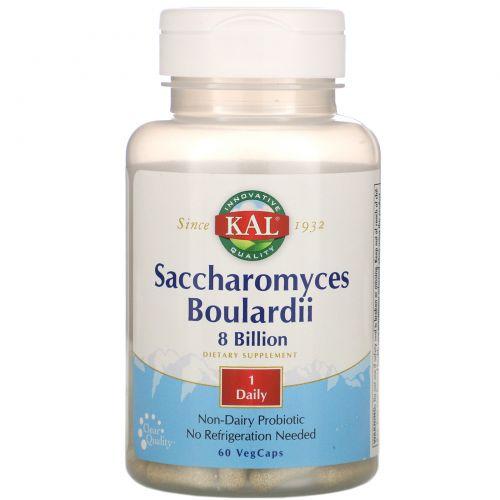 KAL, Saccharomyces Boulardii 8 Billion, 60 VegCaps