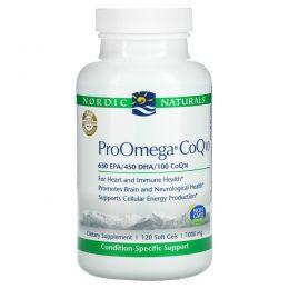 Nordic Naturals, ProOmega CoQ10, 1000 mg, 120 Soft Gels