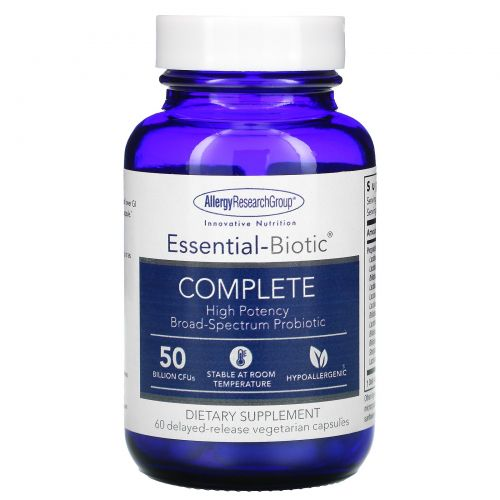 Allergy Research Group, Essential-Biotic Complete, 60 Delayed-Release Vegetarian Capsules