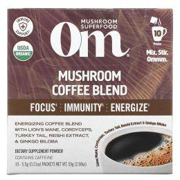 Om Mushrooms, Mushroom Coffee Blend, 10 Packets, .21 oz (5.9 g) Each