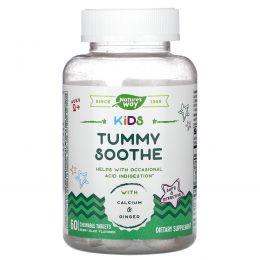 Nature's Way, Kids, Tummy Soothe, добавка для пищеварения для детей от 2лет, со вкусом ягод, 60жевательных таблеток