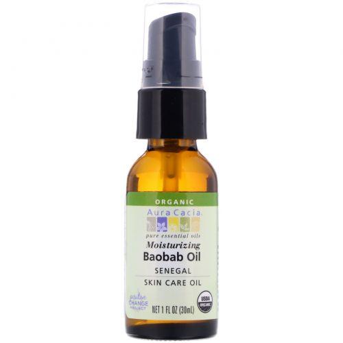 Aura Cacia, Organic Baobab Oil, Skin Care Oil, 1 fl oz (30 ml)