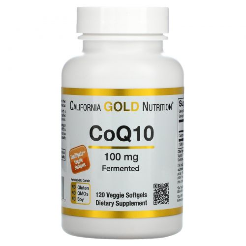 California Gold Nutrition, Коэнзим Q10, 100 мг, 120 мягких капсул TapiOgels