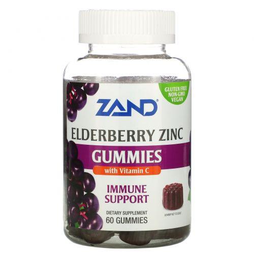 Zand, Жевательные таблетки с бузиной, цинком и витамином С, 60 жевательных таблеток